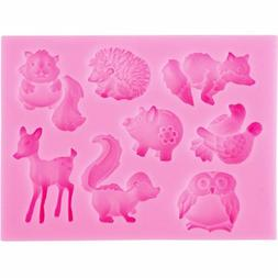 DIY Silicone Cartoon Animal Cake Fondant Mold Pastry Baking