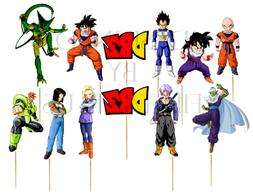 dragon ball cupcake toppers 12 or 24pc