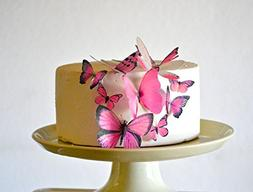 Edible Butterflies - Assorted Pink Set of 15 - Cake and Cupc