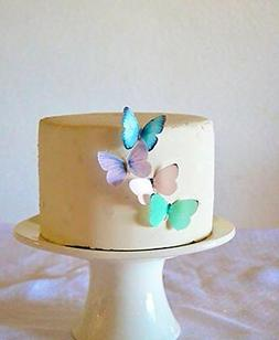 Edible Butterflies © - Small Assorted Pastel Set of 24 - Ca