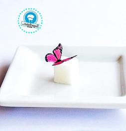 Edible Butterflies © - Mini Assorted Pink Set of 48 - Cake