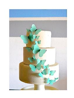 Edible Butterflies - Teal Set of 15 - Cake and Cupcake Toppe