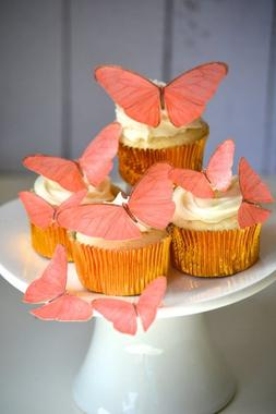 Edible Butterflies © - Coral Set of 15 - Cake and Cupcake T