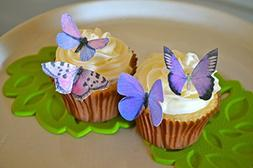 Edible Butterflies © - Small Assorted Set of 24 - Cake and