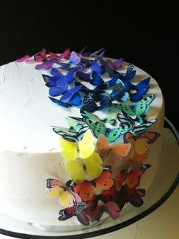 Edible Butterflies © - Small Assorted Raibow Collection Set