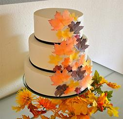 edible fall leaves assorted wafers