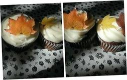 Edible Fall Leaves - Set of 20 - Cake Decorations, Cupcake T
