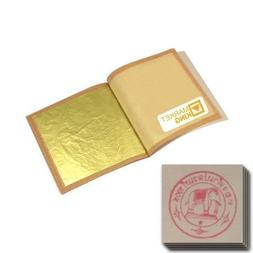 "50 X Edible Gold Leaf Sheets 24 Karat Ss-size 0.8"" X 0.8"" Ge"