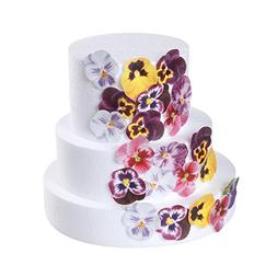 GEORLD 36pcs Edible Pansies Cupcake Toppers & Cake Decoratio