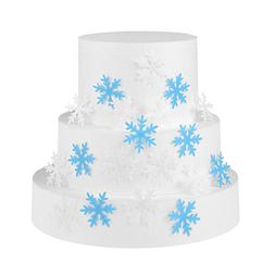 GEORLD Set of 48 Edible Snowflakes Cupcake & Cake Toppers Ch
