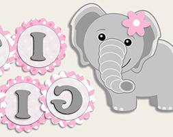 elephant baby shower banner party