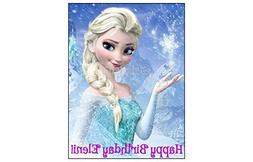 ELSA FROZEN EDIBLE IMAGE CAKE TOPPER DECORATION PARTY BIRTHD
