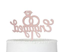 Engaged Cake Topper- Engagement Wedding Party Decorations