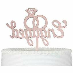 Engaged Cake Topper- Engagement Wedding Party Decorations  K