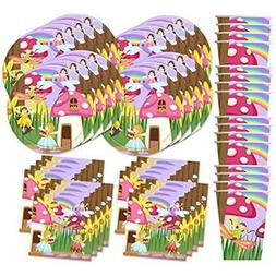 Fairy Garden Birthday Party Supplies Set Plates Napkins Cups