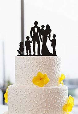 family wedding cake toppers couples