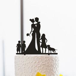 Family Wedding Cake Toppers,Couple Wedding Cake Toppers with