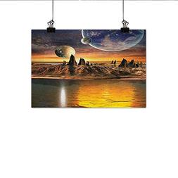 MartinDecor Fantasy Chinese Classical Oil Painting Alien Pla