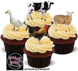 12 x Farmyard Farm Animals Real Mix Chicken Duck Cow Sheep -