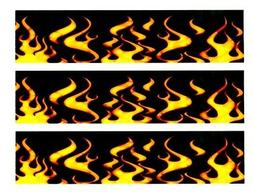 Fire and Flames Edible Cake Border Decoration
