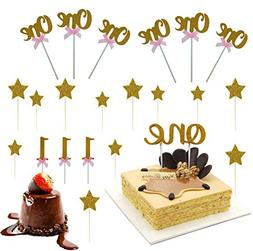 ISusser 1st First Birthday One Cake Topper Decoration Single
