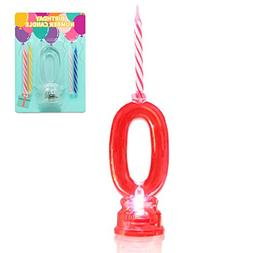 Novelty Place Multicolor Flashing Number Candle Set, Color C