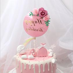 Flower Birthday Cake Topper Party Dessert Table Baking Baby