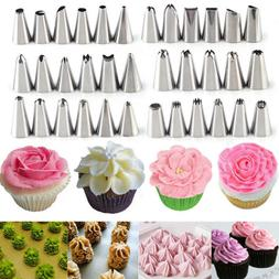 Flower Stainless Steel Icing Piping Nozzle Pastry Cake Cupca