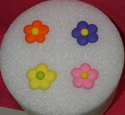 Flowers,Royal Icing,Edible Cupcake Topper,DecoPac,Multi-Colo