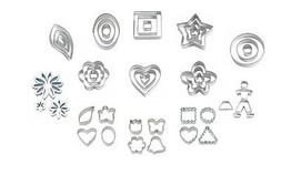 Fondant Cut-Outs for Cake Decorating from Wilton - 13 Shapes