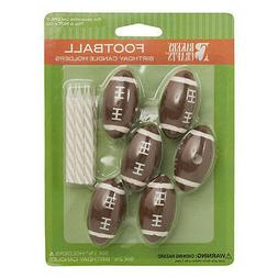 football cake candle holders toppers party supplies