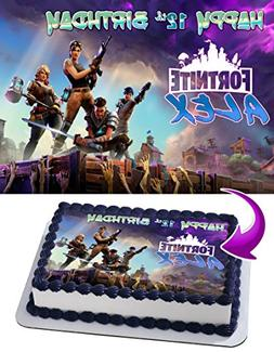 Fortnite Battle Royale Edible Cake Topper Personalized Birth