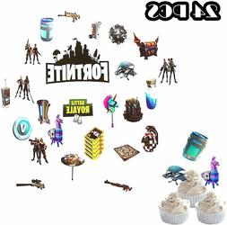 fortnite birthday cupcake topper party supplies party