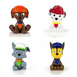 Bundle of Four Paw Patrol Mini Figures - Chase, Marshall, Zu