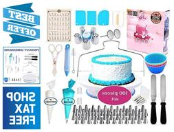 100 Piece Cake Decorating Supplies Kit Frosting & Pastry Too