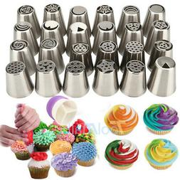 52Pcs Frosting Flower Icing Piping Nozzles Cake Decoration T