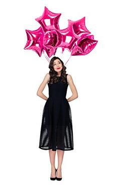 Treasures Gifted Fuchsia Magenta Pink Foil Star Balloons Twi