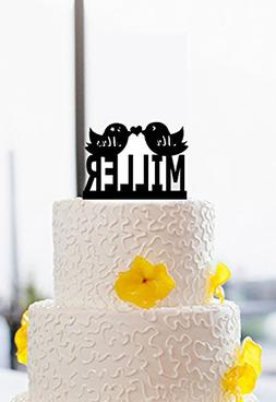 buythrow Funny Kiss Birds Mr and Mrs Wedding Cake Toppers Pe