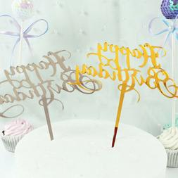Gifts Kids Favors Acrylic Decor Happy Birthday Party Supplie