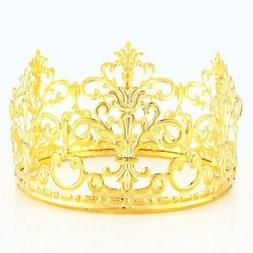 HYOUNINGF Gold Crown Cake Topper Elegant Cake Decoration For