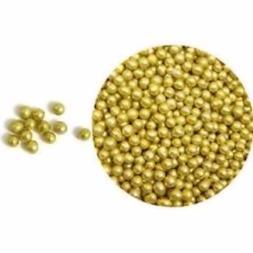 Gold Dragees for Cake, Candy, Cookie Decorating - Various Si