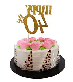 Gold GlitterHappy 50th Birthday Cake Topper