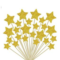 Glorious Year Gold Star Cake Toppers Kids Birthday Party Bab