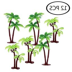 Green Coconuts Tree Cupcake Topper  Palm Tree Cake Topper Fo