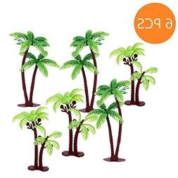 Green Tree Cupcake Topper  -Palm Tree Cake Topper For Cake D