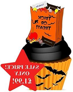 Halloween Trick Or Treat Sweety Candy Bag Orange & Black Des