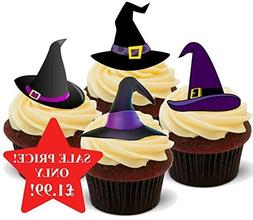 Halloween Witches Hat Purple Mix - Fun Novelty PREMIUM STAND