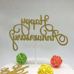 Happy Anniversary Cake Topper 1st First Anniversary Party De