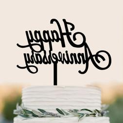 happy anniversary letter cake topper acrylic xmas