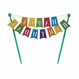 Happy Birthday Banner Adornment Cupcake/Cake Decorating Bann